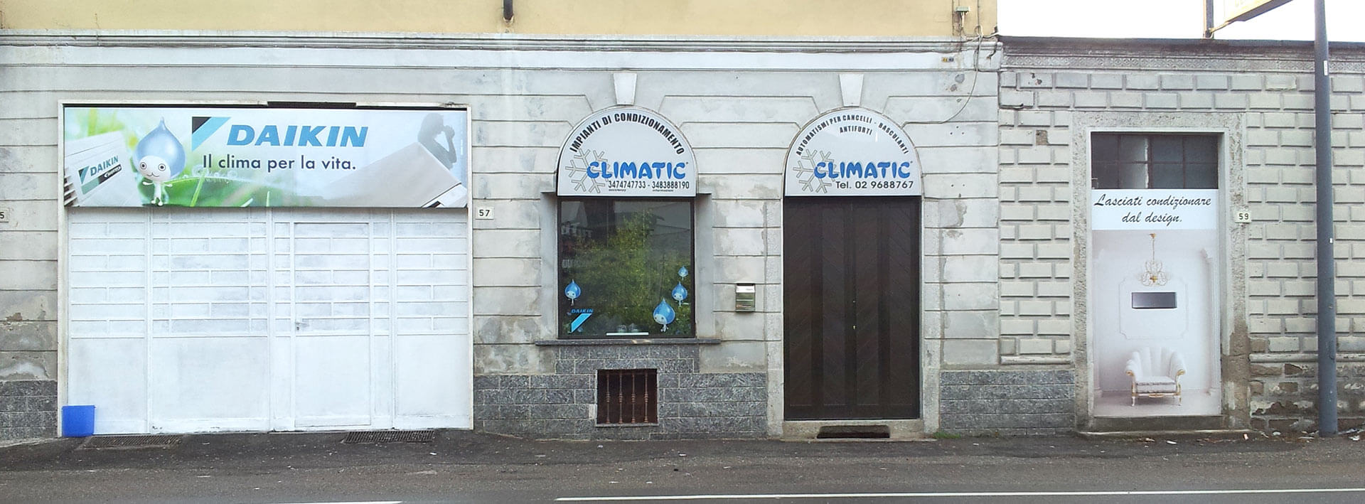 vetrina negozio Climatic srl - Gerenzano (VA)