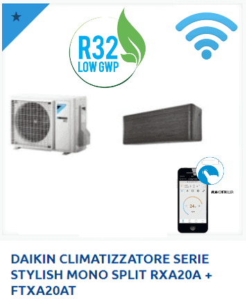 DAIKIN-CLIMATIZZATORE-SERIE-STYLISH-MONO-SPLIT-RXA20A-FTXA20AT