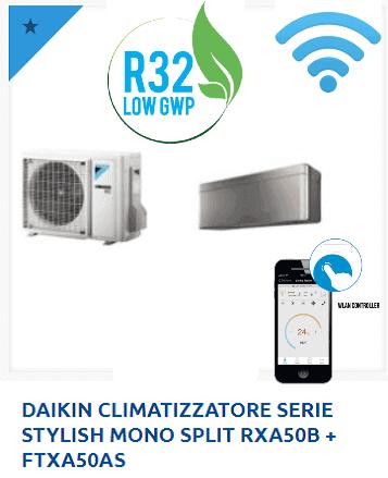 DAIKIN-CLIMATIZZATORE-SERIE-STYLISH-MONO-SPLIT-RXA50B-FTXA50AS