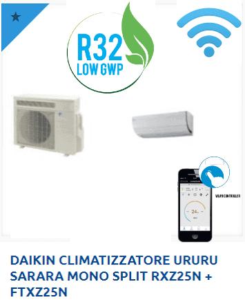 DAIKIN-CLIMATIZZATORE-URURU-SARARA-MONO-SPLIT-RXZ25N-FTXZ25N