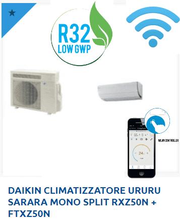 DAIKIN-CLIMATIZZATORE-URURU-SARARA-MONO-SPLIT-RXZ50N-FTXZ50N