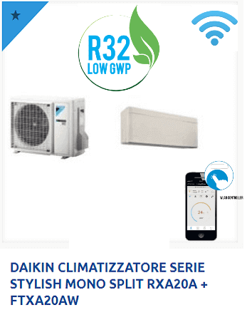 DAIKIN-CLIMATIZZATORE-SERIE-STYLISH-MONO-SPLIT-RXA20A-FTXA20AW